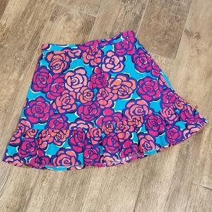 Lilly Pulitzer girls XL (12-14) floral skirt